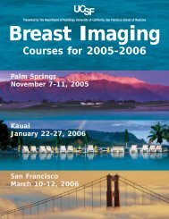 Courses for 2005-2006 - Department of Radiology & Biomedical ...