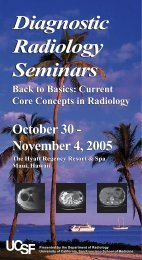 Diagnostic Radiology Seminars Diagnostic Radiology Seminars