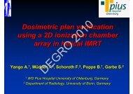 Dosimetric plan verification using a 2D ionization chamber array in ...