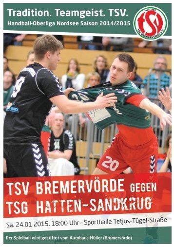 TSV BREMERVÖRDE gegen TSG HATTEN-SANDKRUG