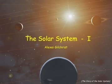 Week 10 Alexei Gilchrist Lecture - pdf file. - Physics and Astronomy
