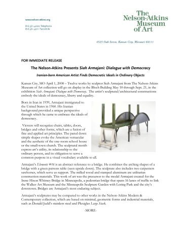 The Nelson-Atkins Presents Siah Armajani: Dialogue with Democracy