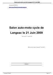 Salon auto-moto cycle de Langeac le 21 Juin 2009 - FFMC43