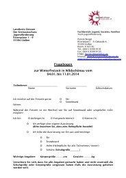 Anmeldung - Fragebogen Wildschönau 2014 - Jugendförderung