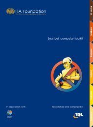 Seat belt campaign toolkit - FIA Foundation