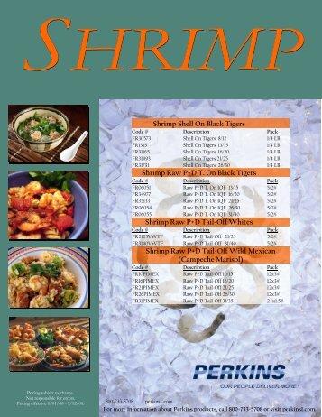Shrimp Shell On Black Tigers Shrimp Raw P+D T. On ... - Perkins
