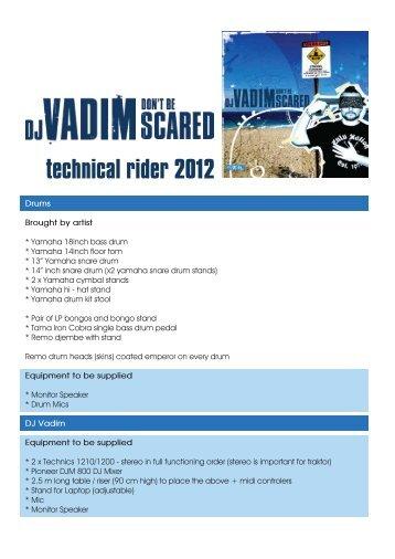 technical rider 2012