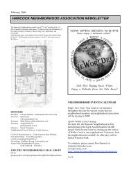 February 2009 Newsletter (PDF) - Hancock Neighborhood Association
