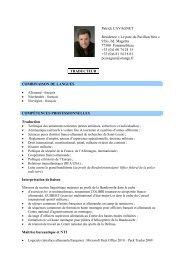 Patrick CAVAGNET Résidence « Le parc du Pavillon bleu » 9 ... - SFT
