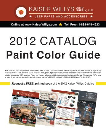 2012 CATALOG - Kaiser Willys Jeep Parts