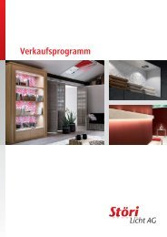 Katalog «Verkaufsprogramm 2012/13 - Störi Licht AG
