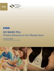NO MAGIC PILL Positive Solutions to the Obesity Issue - IEDM