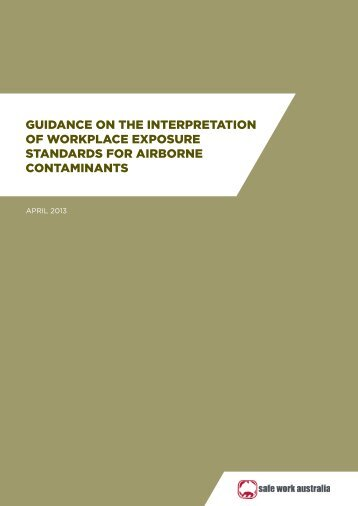 guidance on the interpretation of workplace exposure standards for ...