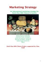 Dutch Raw Milk Cheese Project, supported by: Slow Food