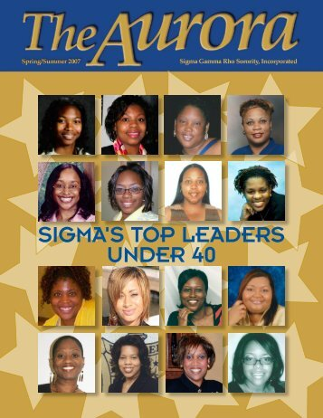 sigma's top leaders under 40 - Sigma Gamma Rho Sorority, Inc.