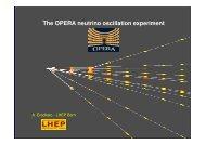 The OPERA experiment at Gran Sasso