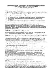 Protokoll 27. Oktober 2006 (nachmittags) - Arbeitsgruppe der ...