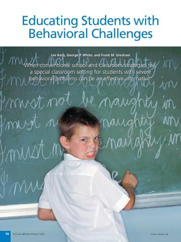 Educating Students with Behavioral Challenges - National ...