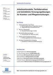 Arbeitszeitmodelle, Tarifalternativen und betriebliche Versorgungslö ...