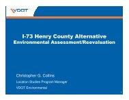I-73 Henry County Alternative