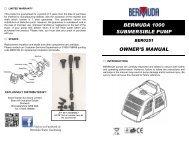 Submersible Pond Pump 1000 - Bermuda