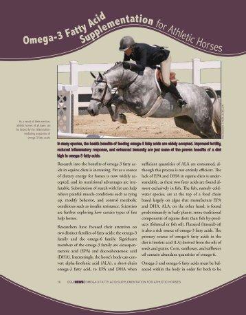 Omega-3 Fatty Acid Supplementation for Athletic Horses