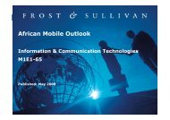 African Mobile Outlook - Growth Consulting - Frost & Sullivan