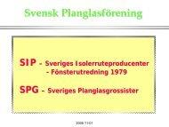 Svensk Planglasförening - Glafo