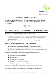 Download media kit - Council for the Humanities, Arts and Social ...