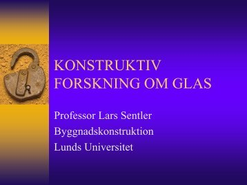 UTBILDNING OM GLAS - Glafo
