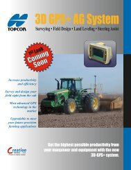 3D GPS+ AG System - Trench Safety