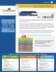 Cyberoam CR25ia Datasheet