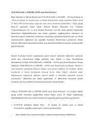 22.03.2010 tarih ve 2010/DK-10/185 sayılı Kurul Kararı: Bilgi ...