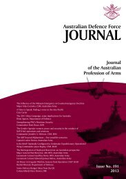 ISSUE 191 : Jul/Aug - 2013 - Australian Defence Force Journal