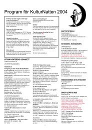 Program 2004 - KulturNatten Uppsala