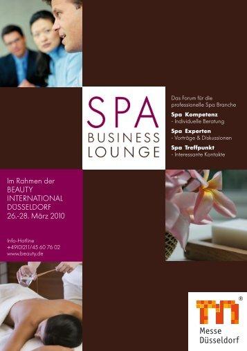 zum aktuellen Programm der SPA Business Lounge - Wellnessfinder