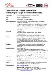 Championnats suisses d'athlétisme concours par équipe ... - LA-Bern