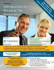 Introduction to Personal Tax Preparation Services - Knowledge ...