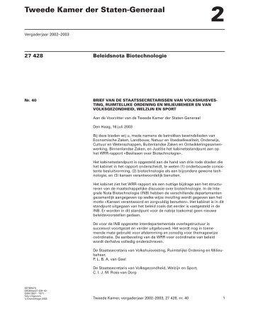 KST69470 - Wetenschappelijke Raad voor het Regeringsbeleid