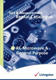RF, Microwave & General Purpose - Livingston
