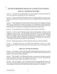 Bylaws of the Board of Trustees of Alabama State University