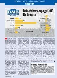 Betriebskostenspiegel 2010 für Dresden - Deutscher Mieterbund