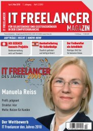 IT Freelancer Magazin Nr. 2/2010