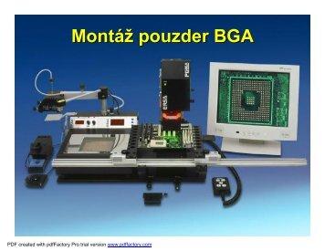 Montáž pouzder BGA - cvičení - UMEL