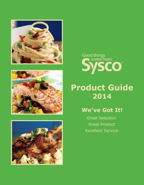 Product Guide Sysco Central Ontario