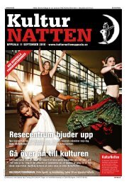 Programtidning 2010 - KulturNatten Uppsala