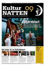 Programtidning 2009 - KulturNatten Uppsala