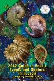 2012 Guide to Fossil Events and Dealers in Tucson
