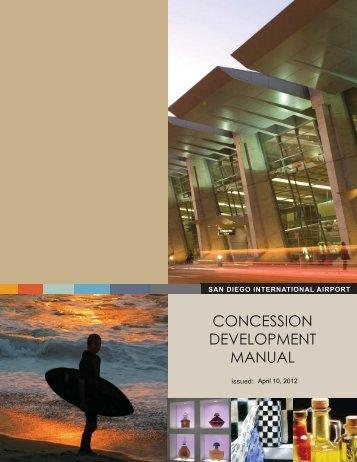 concession development manual - San Diego International Airport
