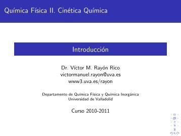 Introducción y conceptos fundamentales - Universidad de Valladolid